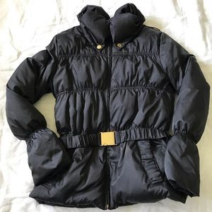 ANDREW MARC // Black Belted Puffer Down Jacket